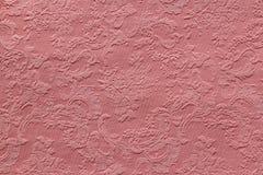 Stof van de textuur de roze jacquard Royalty-vrije Stock Foto