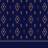 Stof van Denpasar de Donkerblauwe Traditionele Endek stock illustratie