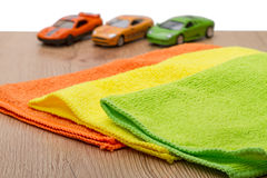 Stoff drei für Autopflege Lizenzfreie Stockfotos