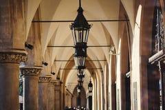Stoff Hall (Sukiennice) Krakau Stockbild