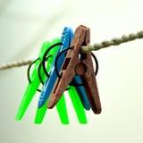 Stoff-hängende Klipp Stockfotos
