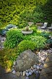 Stoff verschönerte Garten landschaftlich Lizenzfreies Stockfoto