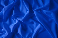 Stoffa bleu. Draped cloth and undulated of color bleu Royalty Free Stock Image