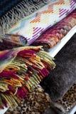 Stoffen en dekens Stock Afbeeldingen
