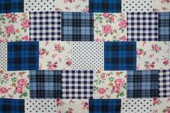 Stoffen retro patroon met bloemenornament Royalty-vrije Stock Afbeelding