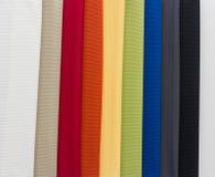 Stoffen van multikleurensteekproeven Royalty-vrije Stock Foto's