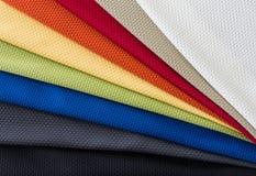 Stoffen van multikleurensteekproeven Royalty-vrije Stock Afbeeldingen