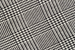 Stoffentextuur, geruit Schots wollen stofpatroon Voor natuurlijke achtergrond, banner, druk, malplaatje, Web, decoratie Wit en zw Royalty-vrije Stock Foto