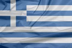 Stoffenvlag van Griekenland Vouw van Griekse vlagachtergrond stock illustratie