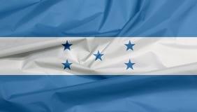Stoffenvlag van Honduras Vouw van Honduran vlagachtergrond vector illustratie