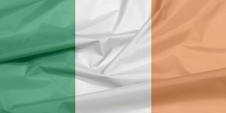 Stoffenvlag van Ierland Vouw van Ierse vlagachtergrond royalty-vrije illustratie