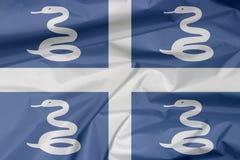 Stoffenvlag van Martinique Vouw van de vlagachtergrond van Martinique stock illustratie