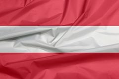 Stoffenvlag van Oostenrijk Vouw van Oostenrijkse vlagachtergrond vector illustratie