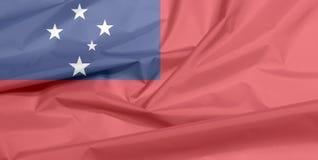 Stoffenvlag van Samoa Vouw van Samoan vlagachtergrond vector illustratie