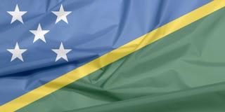 Stoffenvlag van Solomon Islands Vouw van Solomon-vlagachtergrond vector illustratie