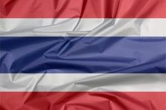 Stoffenvlag van Thailand Vouw van Thaise vlagachtergrond royalty-vrije stock foto's