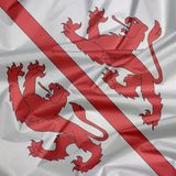 Stoffenvlag van Winterthur Vouw van Winterthur-vlagachtergrond, de stad in het kanton van Zürich in Zwitserland royalty-vrije illustratie