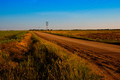 Stoffige Landweg Stock Foto