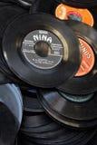 Stoffige vinylverslagen stock foto