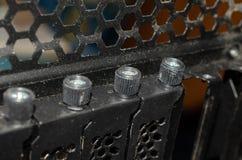 Stoffige zwarte ventilatiegaten van computergeval stock foto's