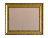 Stoffpinboard im aufwändigen goldenen Rahmen Stockfotografie