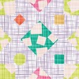 Stoffzusammenfassungsdruck mit geometrischen Formen Stockbild