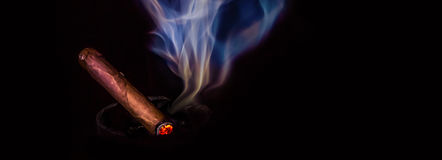 Stogie Banner Royalty Free Stock Photo