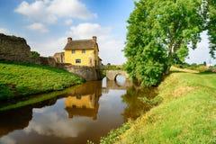 Stogursey slott i Somerset Arkivfoton