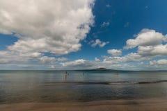 Stoi up paddlers na Nowa Zelandia wybrzeżu obrazy stock