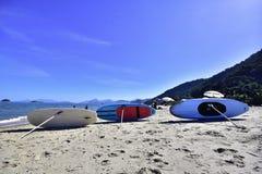 Stoi up, plażowy dzień Brazylia fotografia stock