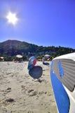 Stoi up, plażowy dzień Brazylia zdjęcia royalty free