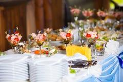 Stoi up posiłku stół Obraz Royalty Free