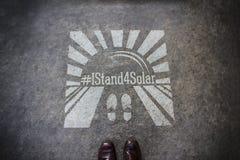 Stoję dla słonecznego matrycuję w chodniczku zdjęcie stock