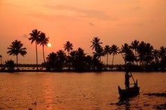 stojące wody Kerala Zdjęcie Royalty Free