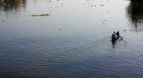 Stojące wody Kuttanad Obrazy Stock