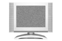 Stoja på TV:N avskärmer Arkivfoton