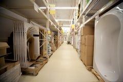 stojaków sanitarny sklepu techników magazyn fotografia stock