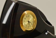 Stojak dla papieru z zegarem obraz stock