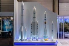 Stojak europejska agencja kosmiczna zdjęcie royalty free