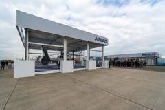 Stojak Europejska firmy międzynarodowa firma Aerobus fotografia royalty free