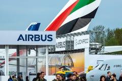Stojak Europejska firmy międzynarodowa firma Aerobus obraz stock