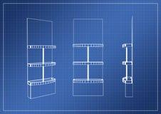 Stojak na papierowym projekcie, 3D rendering Obraz Royalty Free