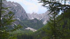 Stojak ostrość śnieżna góra zbiory wideo