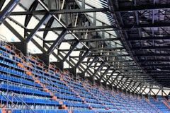 Stojaki i dach stadium, perspektywa Fotografia Stock