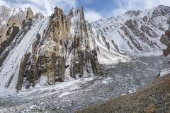 Stok Kangri,喜马拉雅山山风景 免版税图库摄影