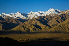 Stok Kangri Range and Leh Valley , Leh-Ladakh, India Royalty Free Stock Images