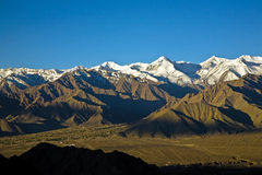 Stok Kangri Range and Leh Valley , Leh-Ladakh, India Royalty Free Stock Image
