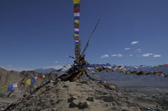 Stok Kangri. View from Leh Palace Royalty Free Stock Images