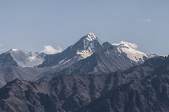 Stok Kangri. The view of Stok Kangri from Leh Palace Royalty Free Stock Photography