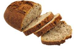 Stokbrood dat in plakken wordt gesneden Stock Fotografie